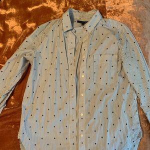 Banana Republic button down shirt skull print sz M